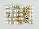 5-STRAND YELLOW & WHITE SOUTH SEA PEARL BRACELET thumbnail